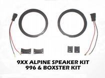 Porsche Boxster 986 and 996 Speaker Upgrade kit (without speakers)